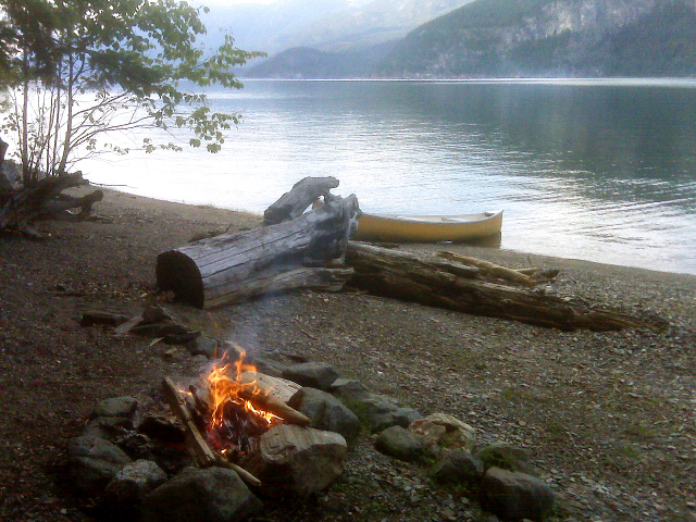 Firepit on the Wing Creek beach