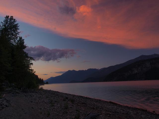 Sunset on the Wing Creek Beach