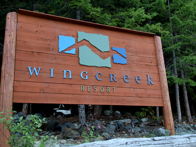 The Wing Creek beach sign