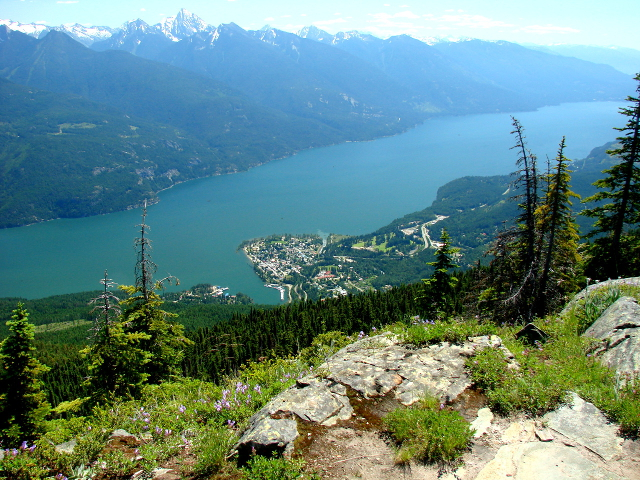 Kaslo from Mt Buchannan