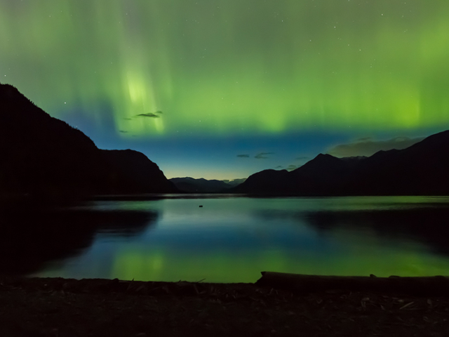 Northern Lights from Kootenay Lake