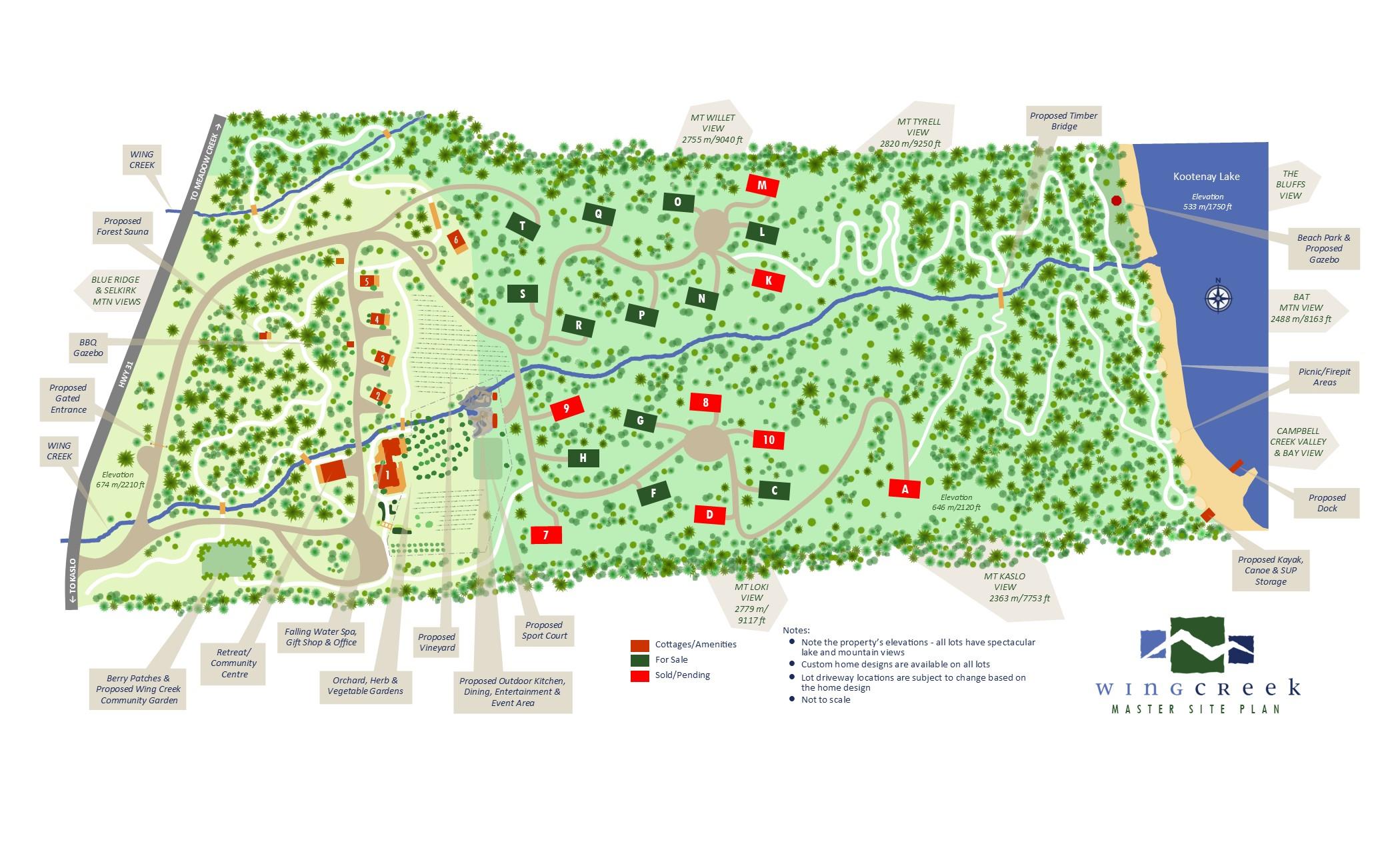 Wing Creek Master Site Plan