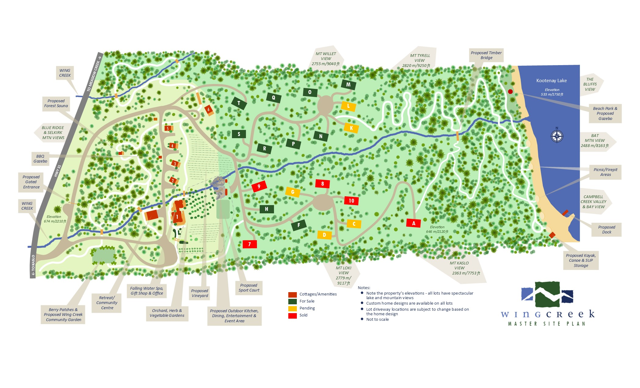 Wing Creek Master Site Plan